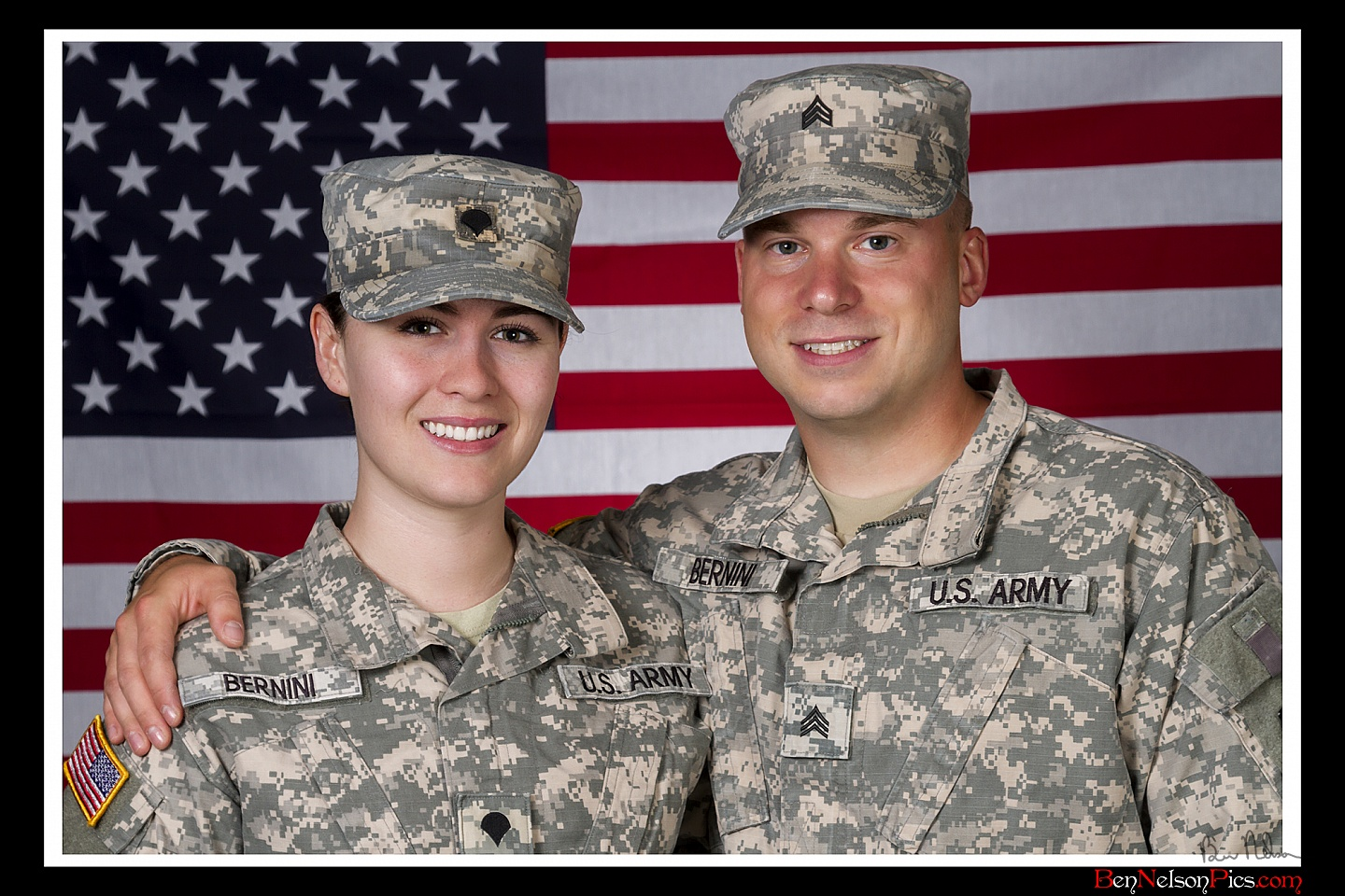 Couples Photos and Engagement Pictures in Springfield Missouri - Couples Photo With American Flag Springfield Missouri.