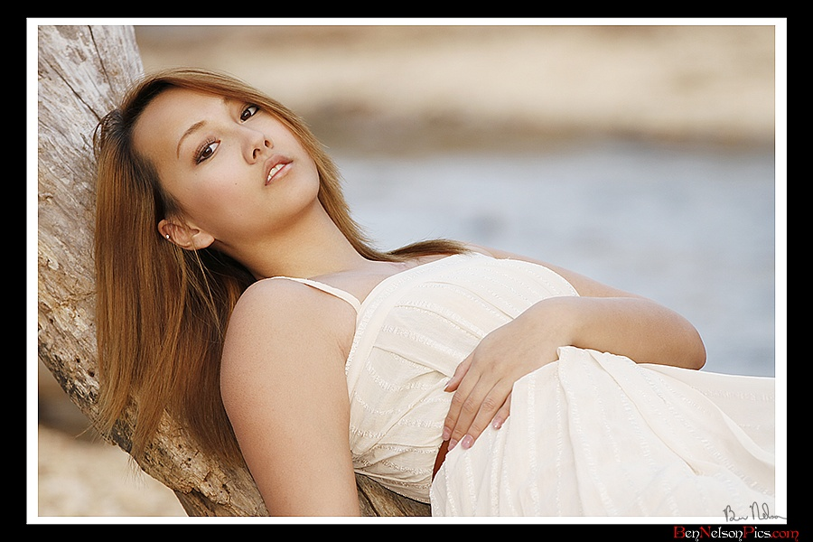 Modeling Fun | Aspiring Models by Ben Nelson - Pazoey Lee Modeling A White Dress In Nature