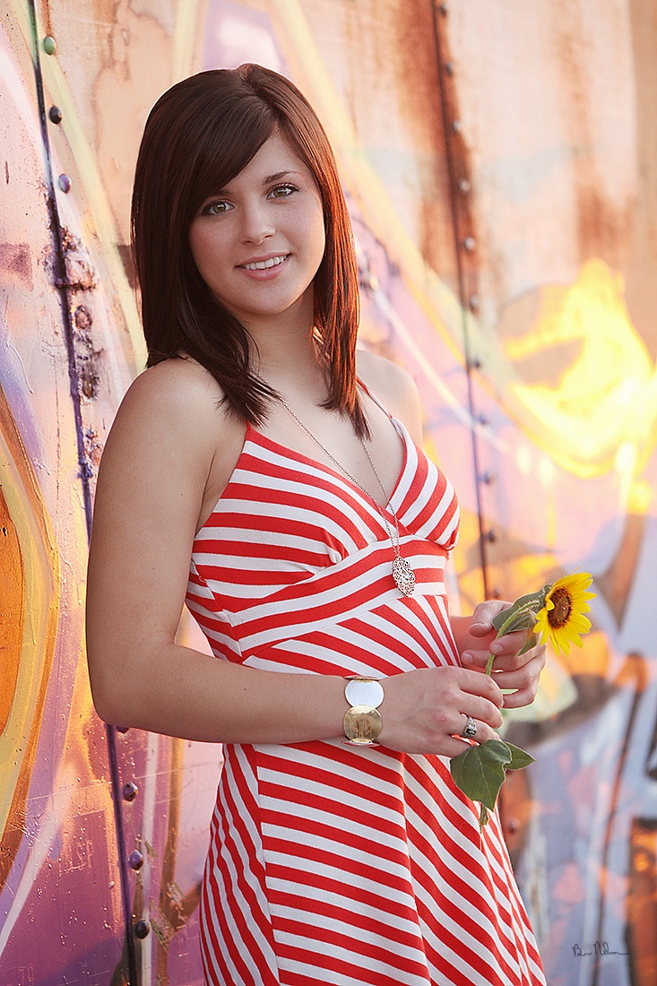 A collection of Senior Pictures and Portraits in the Springfield Missouri area by Ben Nelson - Amanda Cunningham Senior Picture Red & White Dress