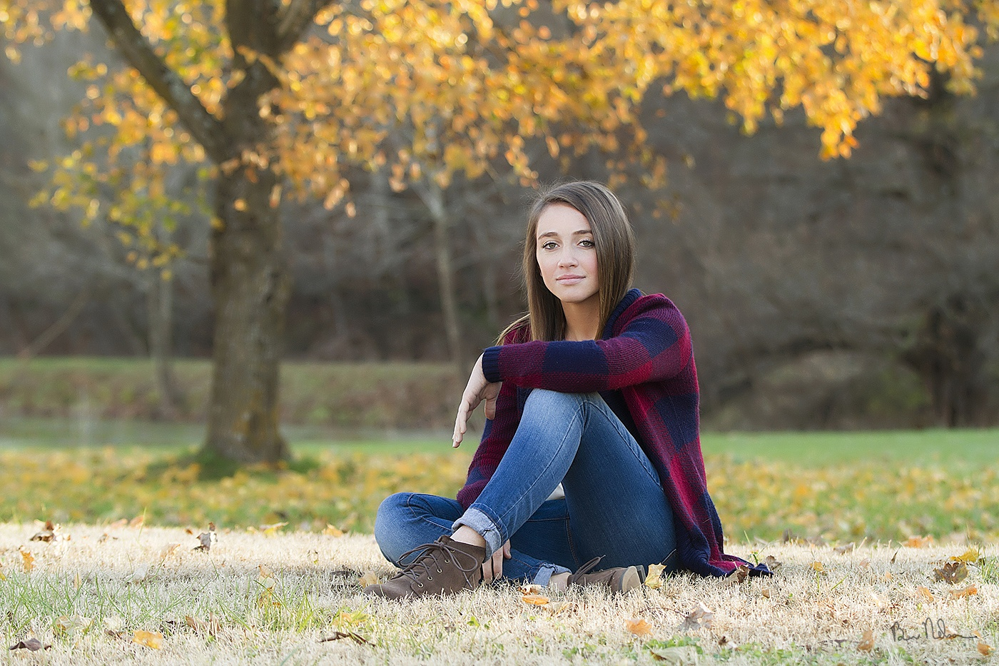 A collection of Senior Pictures and Portraits in the Springfield Missouri area by Ben Nelson - Annie Lewis Senior Picture late fall.