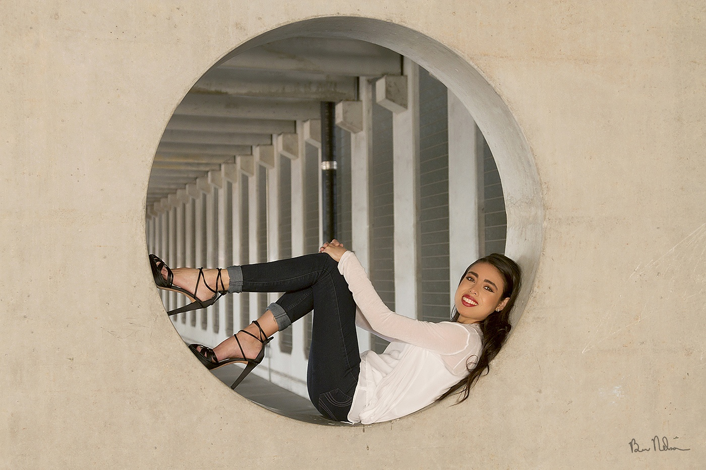 A collection of Senior Pictures and Portraits in the Springfield Missouri area by Ben Nelson - Cecilia senior portrait in parking garage 2016