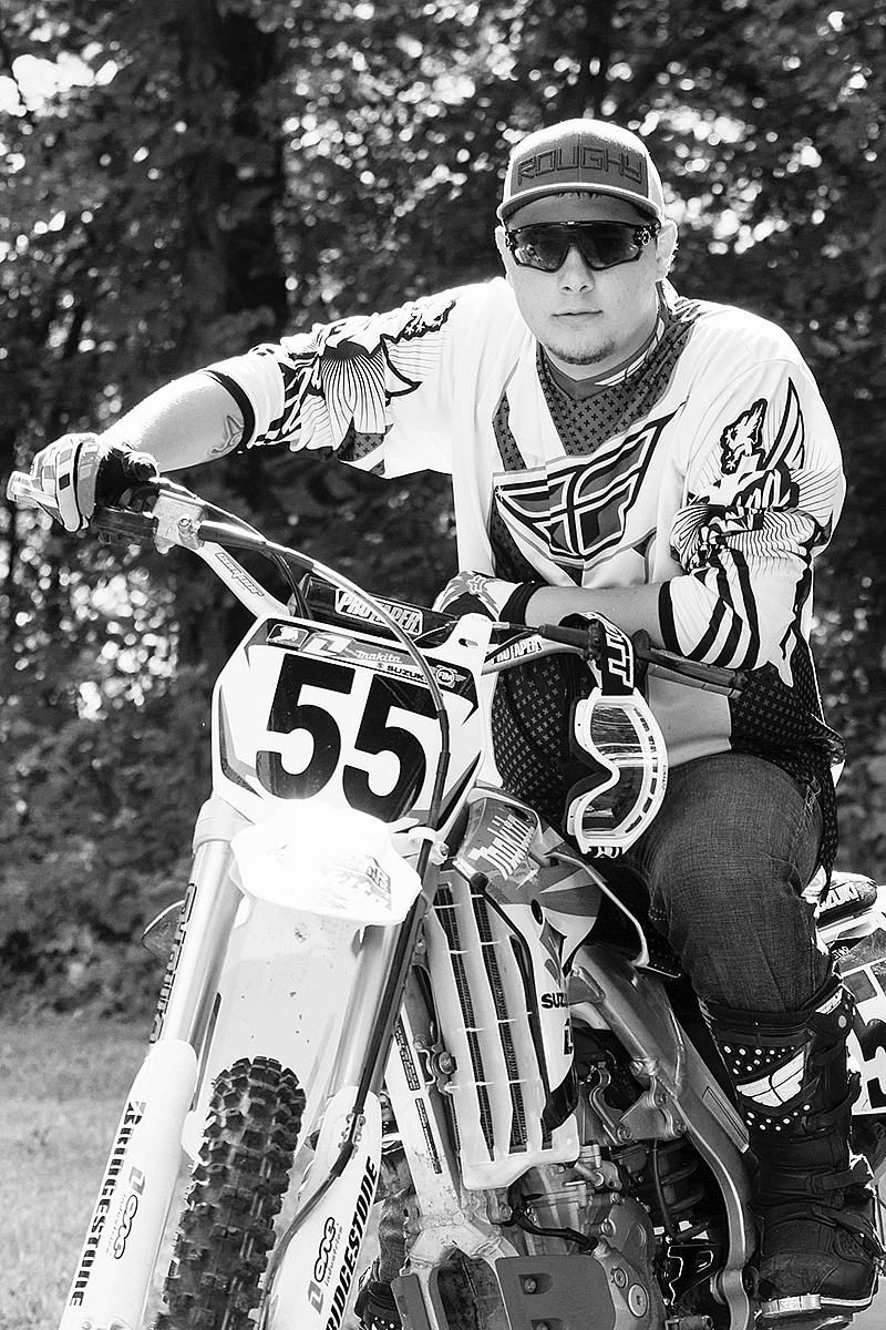 A collection of Senior Pictures and Portraits in the Springfield Missouri area by Ben Nelson - Cory Cumley Senior Photo with Dirt Bike