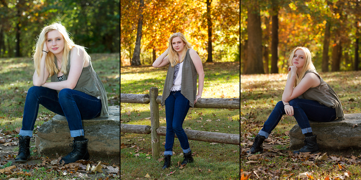 A small sample of senior pictures of Amanda Mudd who graduated high school in 2017