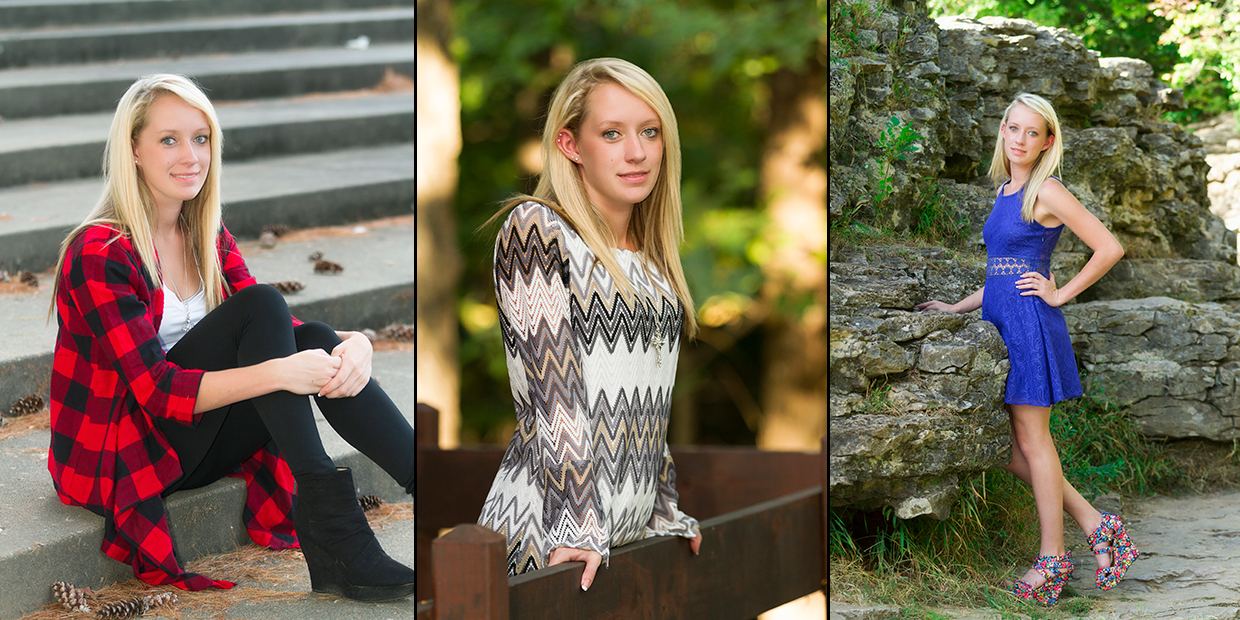 A small collection of senior photos of Breanne Nelson 2016 Senior Graduate