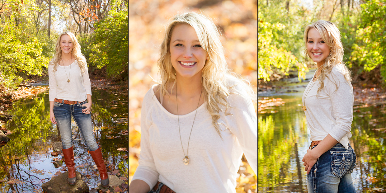 A small sample of senior portraits of Taylor Chambers who graduated high school in 2015